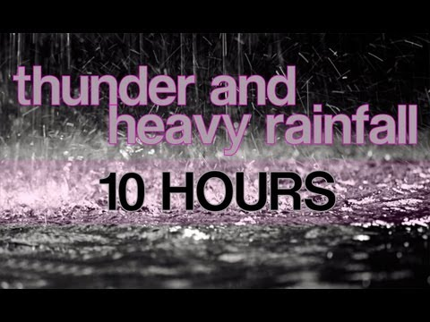Thunder - Fall asleep to the sound of 10 hours of Heavy Rain and Thunder without Music added. Great for sleeping, relaxation, meditation, ASMR, and much more! Hundreds...