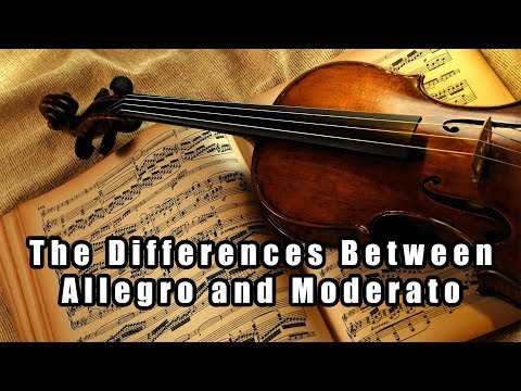What's the difference between Allegro and Moderato?