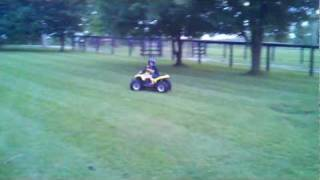 9. Evan on a 50cc suzuki 2004 quadsport first ride mini quad motocross