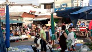 Amazing Thailand, Traditional Morning Markets In Kaeng Khlo, Thailand
