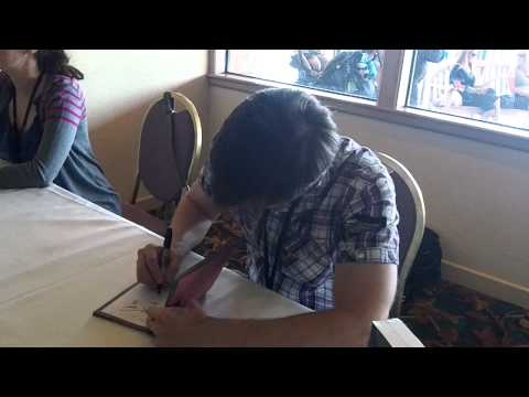 Lowenthal - Just a vid of Yuri Lowenthal as he signed autographs for both of my friends' before saying a few lines for us.