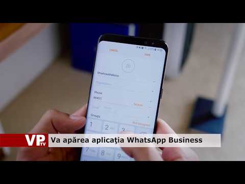 Va apărea aplicația Whatsapp Business