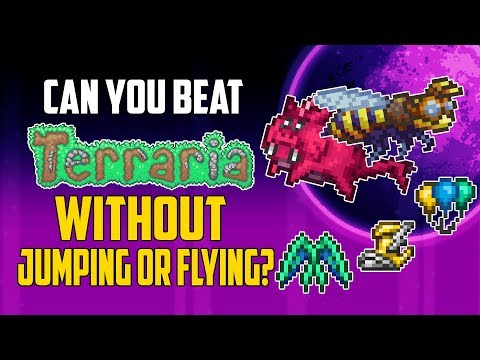 Can You Beat Terraria Without Jumping or Flying? | HappyDays