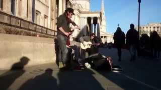 The Trouble Notes, Lose your Ties (Gipsy Fusion) - busking in the streets of London, UK