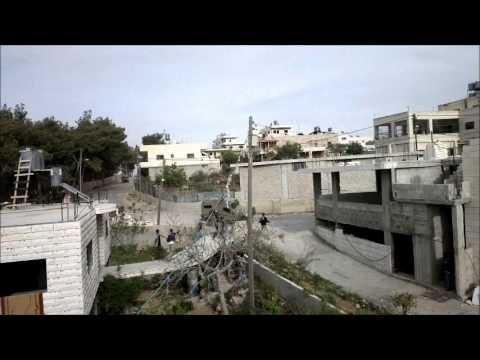 انقلاب جيب عسكري في مواجهات يوم الارض في مدينه الخضر منطقة ام ركبة 30.3.2013