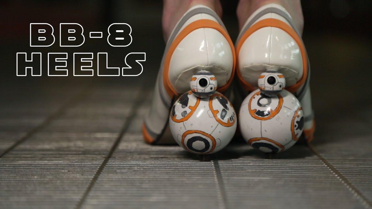 #видео дня | Каблуки в виде BB-8 из «Звёздных войн»