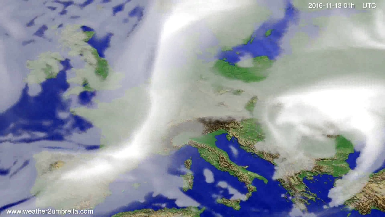 Cloud forecast Europe 2016-11-10