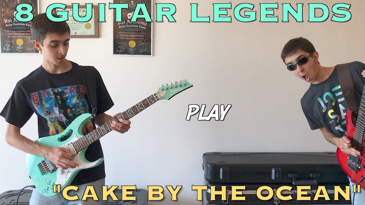 """Cake By The Ocean"" played by 8 Guitar Legends – Francisco Tomás"