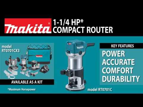 MAKITA 1-1/4 HP Compact Router Kit