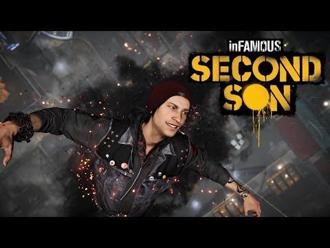 sony playstation 4 + infamous second son