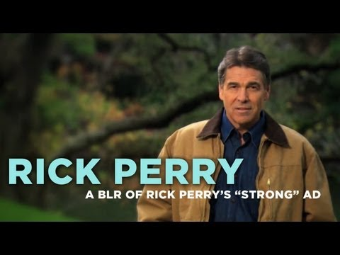 Bad Lip Reading of Rick Perry's Strong Ad