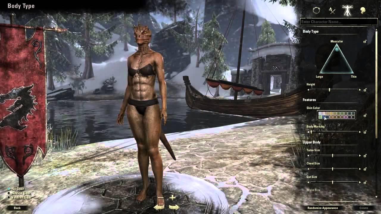 Elder Scrolls Online: видео - The Elder Scrolls Online: создание персонажа (RUS)