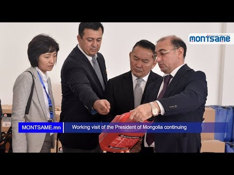 Working visit of the President of Mongolia continuing
