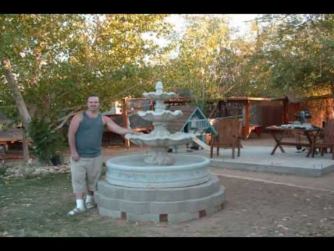 Water Fountain 3 tier project – install