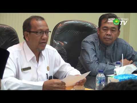 Balitbang Kemenag RI Visiting Kanwil Kemenag Aceh