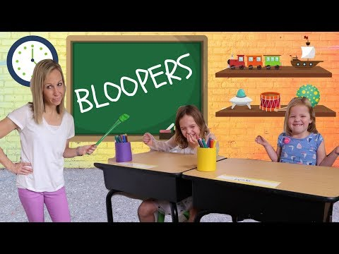 Fake Toy School BLOOPERS with Addy and Maya !!!