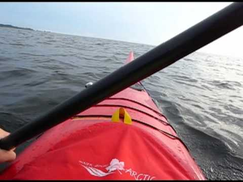 paddling - Paddling Bottenviken. Paddling in Gulf of Bothnia, Sweden. Kayak