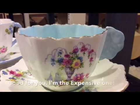 Which Antique Cup Saucer is worth the most? Shelley Paragon Foley Part One SAM