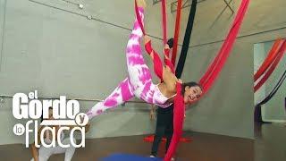 Zuleyka Rivera y Clarissa Molina probaron una rutina con telas para mantenerse 'Fit'