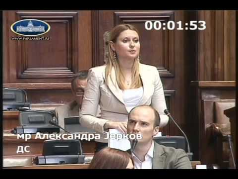Александра Јерков о амандманима на измене Закона о јавном информисању и медијима