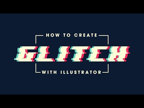 Illustrator Beginner Tutorial: Glitch Effect Tutorial
