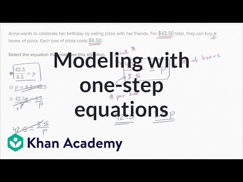 Modeling with one-step equations (video) | Khan Academy