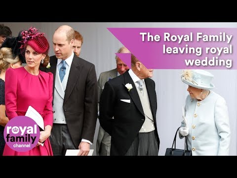 The Royal Family Leaving Princess Eugenie's Wedding