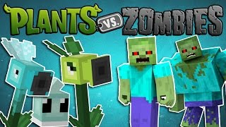 Minecraft Mods: Plants vs. Zombies - Plants and Zombies! (Plants vs Zombies Minecraft Mod Showcase)