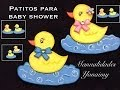 PATITO PARA BABY SHOWER HECHO CON FOAMY O GOMA EVA . - YouTube