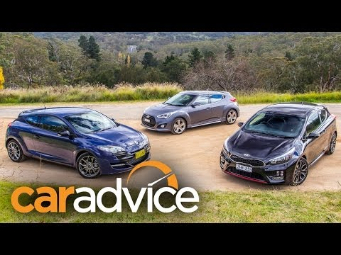 Sporty hatch comparison: Kia Procee'd GT v Hyundai Veloster SR Turbo v Renault Megane RS265 Sport