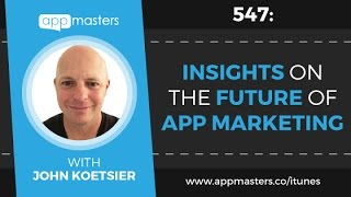 Join us at the next App Masters Connect:http://appmastersconnect.com/Coming is the presentation from our App Masters Connect Vegas with John Koetsier. He shares some amazing data on the future of app marketing as it pertains to ASO, App Store reviews, and fraud from ad networks.John Koetsier is a Mobile Economist at TUNE.Connect with John:https://twitter.com/johnkoetsierTUNE:https://www.tune.com/***************Check out our app marketing agency:http://www.appmasters.co/Follow us:Twitter: https://twitter.com/stevepyoungFacebook: https://www.facebook.com/AppMastersCo/Blog: http://www.appmasters.co/blogJoin the newsletter: http://www.appmasters.co/newsletter***************