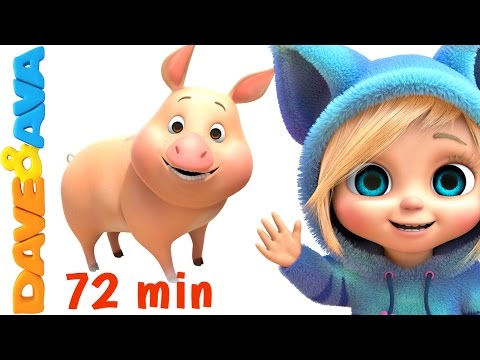 🐷 Old MacDonald Had a Farm | Farm Songs Collection | Nursery Rhymes from Dave and Ava 🐷