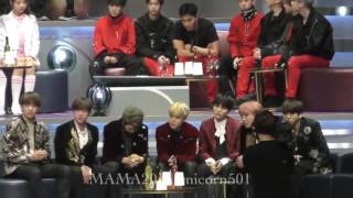 BTS Reaction To The Announcement  Of  MAMA 2016 ARTIST OF THE YEAR