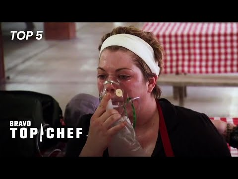 Top 5 Emergencies In Top Chef | Top Chef (Top 5)