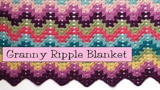 Video Crochet for Knitters  - Granny Ripple Blanket MP3, 3GP, MP4, WEBM, AVI, FLV Juli 2018