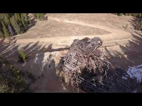DJI Mavic Pro Derelict Gold Mines above Idaho Springs, Colorado