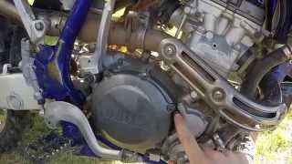 6. YZ250F oil change