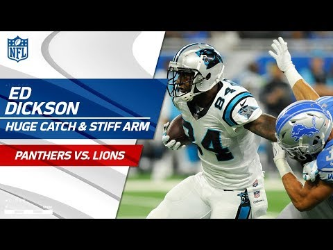 Video: Ed Dickson's Huge Catch & Sick Stiff Arm! | Panthers vs. Lions | NFL Wk 5 Highlights
