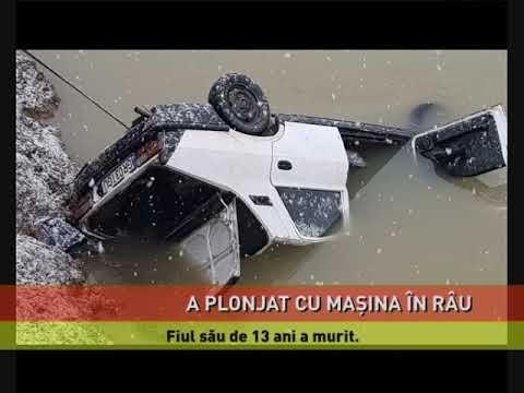 Un bărbat a plonjat cu maşina în râul Argeş. Fiul său, în vârstă de 13 ani, a murit