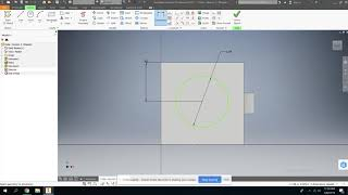 Intro to Inventor: Part 5: Cylinder extrusion with referenced dimensions