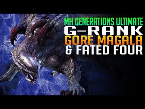 G-Rank - Fated Four & Gore Magala Viewer Hunts - Monster Hunter Generations Ultimate (видео)