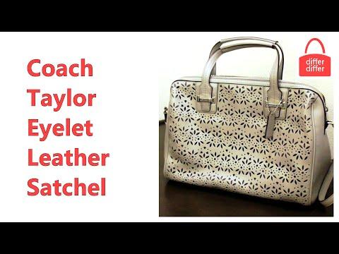 Coach Taylor Eyelet Leather Satchel 27392