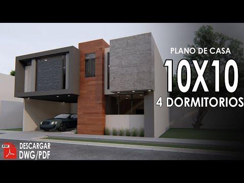 Plano de casa de 10x10 metros