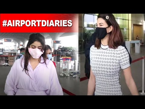 Jacqueline Fernandez Janhvi Kapoor nail their airport look