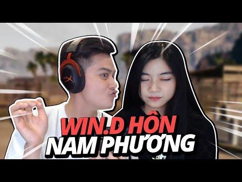 """Win.D hôn Hot Girl """"Nam Phương"""" ngay trên live stream !   CHƠI GAME VỚI GÁI CÙNG WIN.D - Thời lượng: 10:35."""