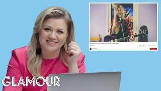 Video Kelly Clarkson Watches Fan Covers on YouTube | Glamour MP3, 3GP, MP4, WEBM, AVI, FLV Juni 2019
