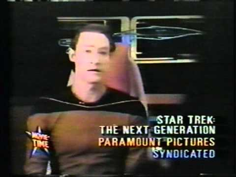 """Movie Time"" on Star Trek: The Next Generation - 1989!"