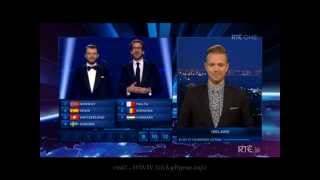 Nicky Byrne Giving Ireland votes Eurovison 2014 (Irish Version)