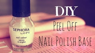 DIY Peel Off Nail Polish Base - YouTube