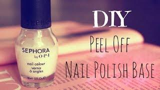 DIY Peel Off Nail Polish Base - YouTube